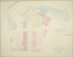 Plan of the newly erected houses in Whitehall Place, &c.